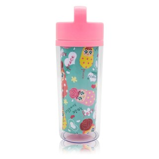 QQ tumbler hand-held thermal mug - pink