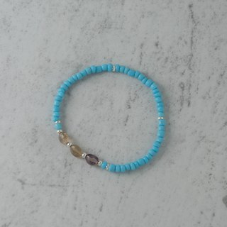 [] Woody'sHandmade sky. Baby blue glass bracelets, a paragraph, amethyst beads former miners