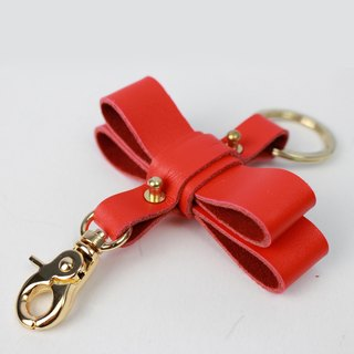 Zemoneni Leather oversize butterfly style key chain in Red color