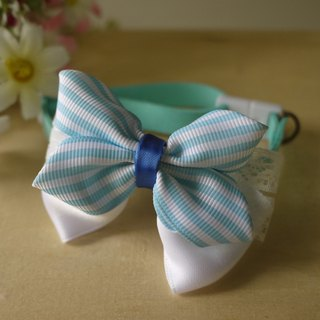 Safety x pet collar blue lace lovely and lively cats and dogs / Collar / tie / Jojo ♥ cherry pudding Cherry Pudding ♥