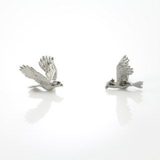 Cockatoo Earring - black ruthenium
