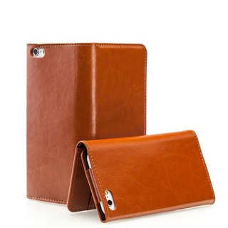 SW iPhone 6 / 6S Plus dedicated CALM leather holster - brown (4716779655261)