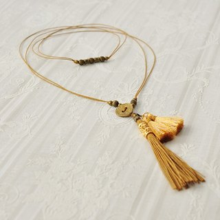 "Necklace / 2way Tassel Necklace ""shooting star"""