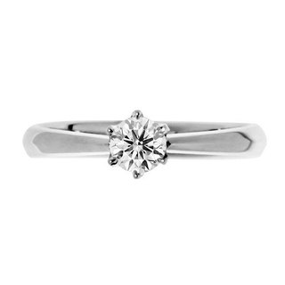 Classic love natural zircon single diamond sterling silver ring (international ring on the 11th)