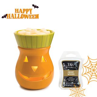 【VIVAWANG】 aromatherapy wax warm lamp - Jack pumpkin light. Halloween decorations, aromatic deodorant, gifts / for personal use.