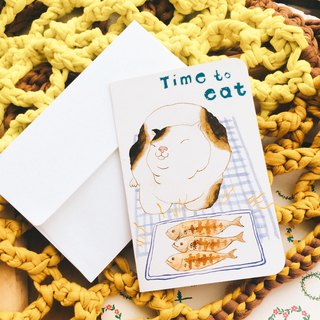Sewing ball universal greeting card -Time to eat