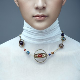 Stardust Concept Solar System Necklace