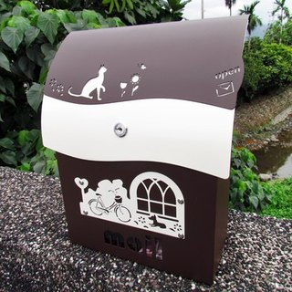 "Design section brown coffee lock stainless steel mailbox, postbox, color, cover, house number patterns are optional. ""Charming things make sense of life everywhere"""