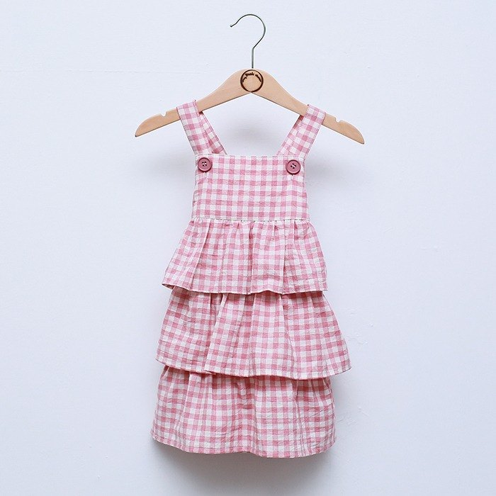 My little star strawberry butter organic cotton cake dress dress