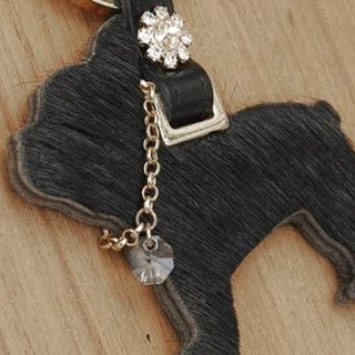 [CHIC DOG] Classic Wool Leather Hanger - Double Sided Horsehair (Fashion Black)