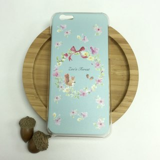 Zoe's forest pink green mobile phone shell iphone 6/6 plus/7/7 plus/8/8 plus/X