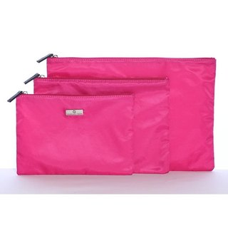 Organized Travel- three-piece multi-function travel pouch (brilliant pink)