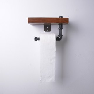 Water pipe reel toilet paper frame / thick plate solid wood rack / towel rack storage