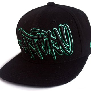 Arturn / Fighting snapback cap baseball hat / black and green
