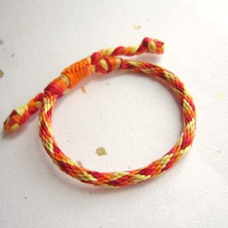 Flame round rope lucky rope woven bracelet (optional color)