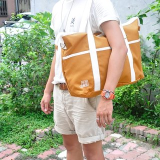 purely. Travel to - shoulder bag / messenger bag / canvas bag [yellow ocher]