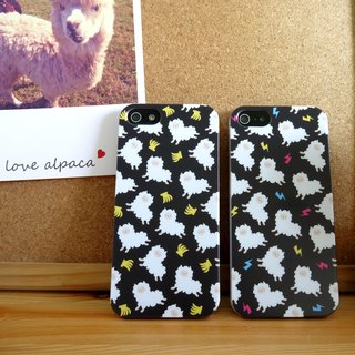 Black Running Banana Alpaca Pattern (Left)Print Soft / Hard Case for iPhone X,  iPhone 8,  iPhone 8 Plus,  iPhone 7 case, iPhone 7 Plus case, iPhone 6/6S, iPhone 6/6S Plus, Samsung Galaxy Note 7 case, Note 5 case, S7 Edge case, S7 case