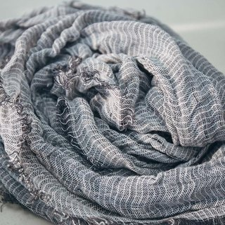 Collagen-Infused Linen Beauty Scarf - Gray