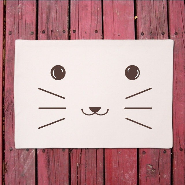 Canvas placemats │ cute little cat animal series