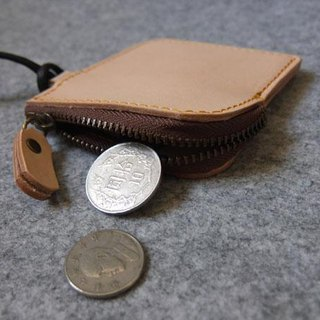 YOURS minimalist small leather handmade leather purse with ‧ Natural Leather