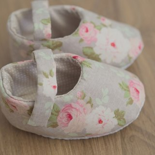 Hazel Nordic rose baby shoes (large baby)