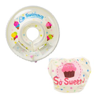 Swimava ice cream baby swimming collar / Diaper Set group