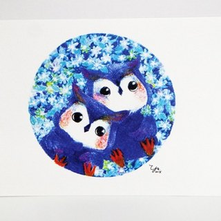 Owl Twins Postcards