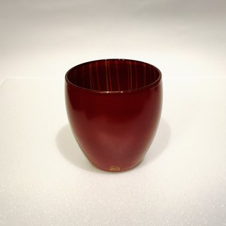 Japanese handmade lacquer red wine glass
