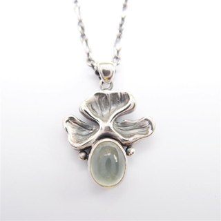 Classic Series 5 --- prehnite 925 sterling silver necklaces