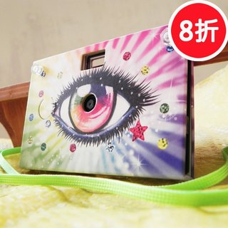 (8-fold) Paper Shoot paper paper camera can shoot creative digital camera Lomo retro exchanging gifts included 4GB SanDisk MicroSD memory card four kinds of effects Taiwanese brand (Bright rosy version)