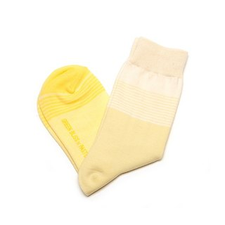 GREEN BLISS Organic Socks - Co-branded PASTEL Gradation Yellow Gradation Yellow Stockings (male/female)