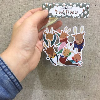 Warm winter sticker set (5 in)