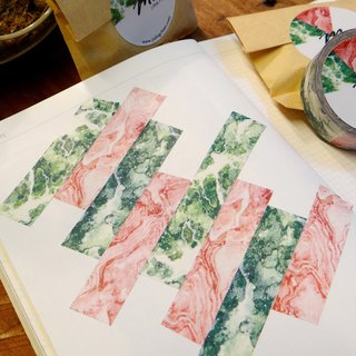 15 'summer masking tape [Green & Pink marble]