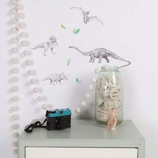 Dinosaur Invasion mini < love mae Australia nontoxic patent wall stickers >