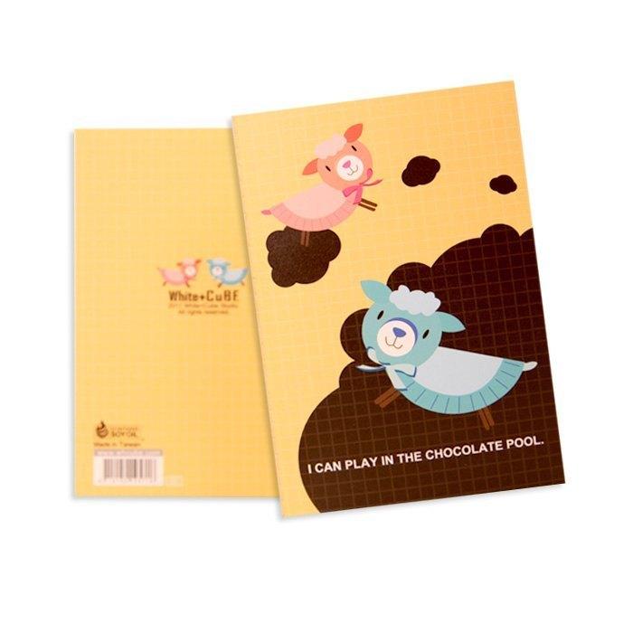 +天馬行空動物園+ 巧克羊 格文筆記本【A6】