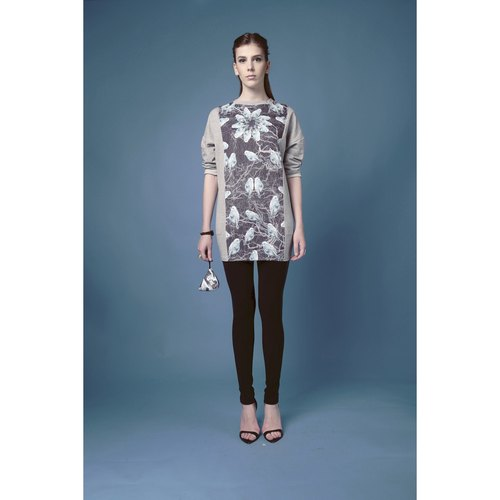Hong Kong designer brands Blind by JW Printed Long T-shirt - bird (Bird)