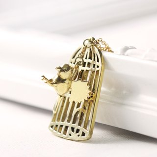 Necklace Bird and Bird Cage.