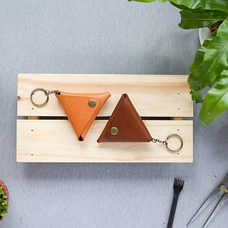 Shekinah Handmade Leather - Triangle Small Coin Purse