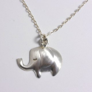 Lovely Zoo - Elephant Necklace - Custom Hand Stamped - animal necklace