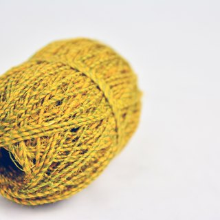 Hand twist linen - two-color yellow - green fair trade