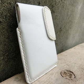 Hand-stitched leather fashion white card 140630