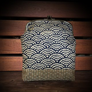 Japan's Qinghai wave mouth gold bag [can be slanted back]