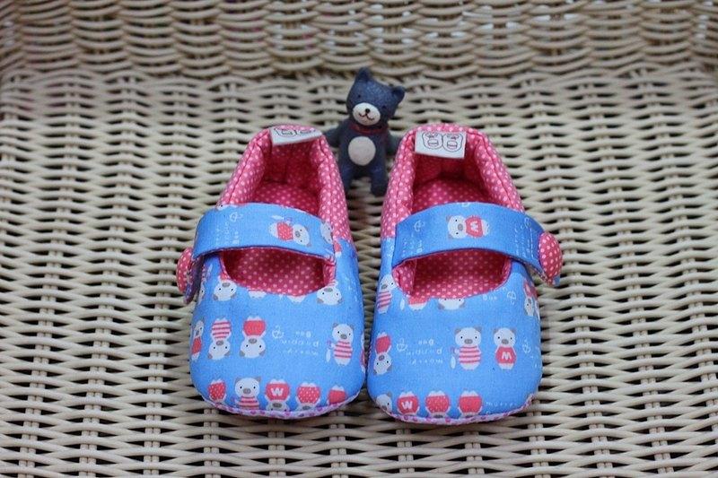 粉藍小豬豬 學步鞋
