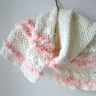 Orange flavored sweet cream lace hand-crocheted scarves
