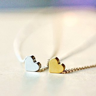 Simple Tiny Heart Necklace Mother's Day, Wedding, Bridesmaid gifts, fashion,Handmade by Maki Y design