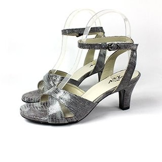 Grey cross winding sandals