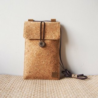 Paralife Custom Size Cork Baguette / Cross Body Bag / Phone Pouch Purse Sleeve S