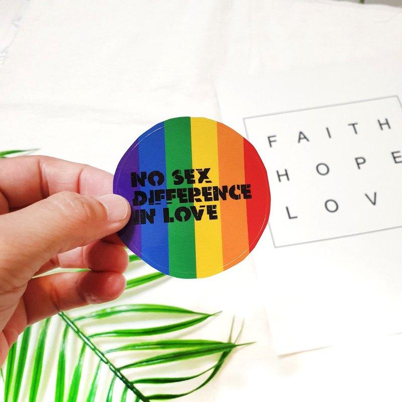 six color rainbow stickers デザイナー kenart pinkoi