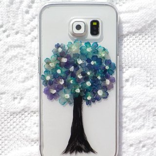 Handmade phone case, Pressed flowers with nature, Flower Tree