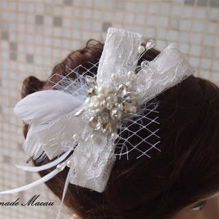 Western-style wedding bride flash diamond bow headdress hair accessories wedding gift
